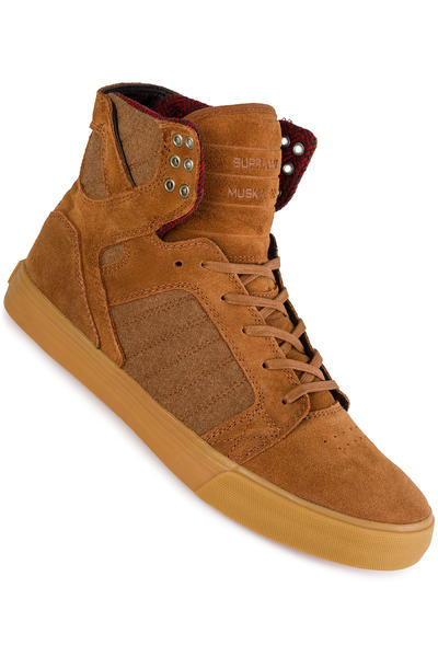 Supra Skytop Chaussure (brown red gum)