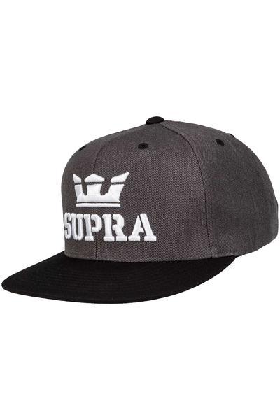 Supra Above Snapback Cap (heather black)