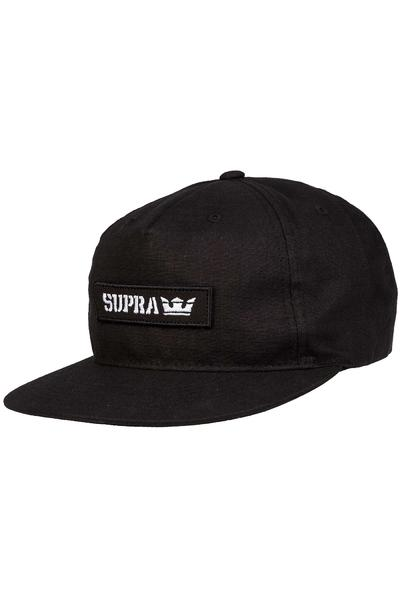 Supra Mark Patch Snapback Cap (black)