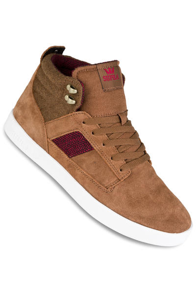 Supra Bandit Schuh (brown red herringbone gum)
