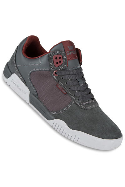 Supra Ellington Schuh (charcoal burgundy light grey)