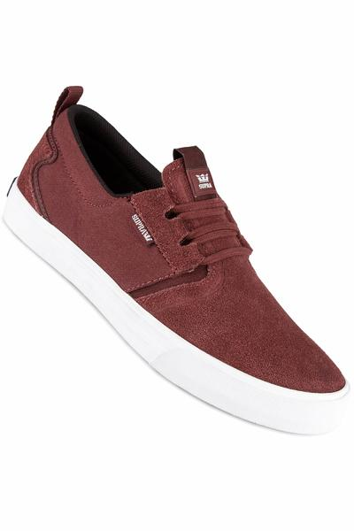 Supra Flow Shoe (burgundy white)