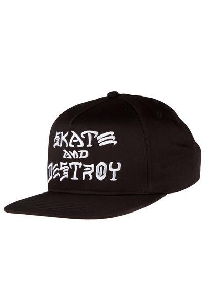 Thrasher Skate & Destroy Snapback Gorra (black)
