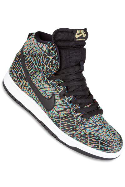 Nike SB Dunk High Premium Trippin Schuh (black black rainbow)
