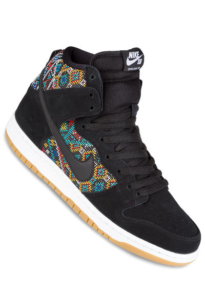 Nike SB Dunk High Premium Schuh (black black rio teal white)