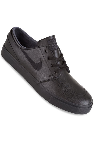 Nike SB Zoom Stefan Janoski Leather Shoe (black black black)