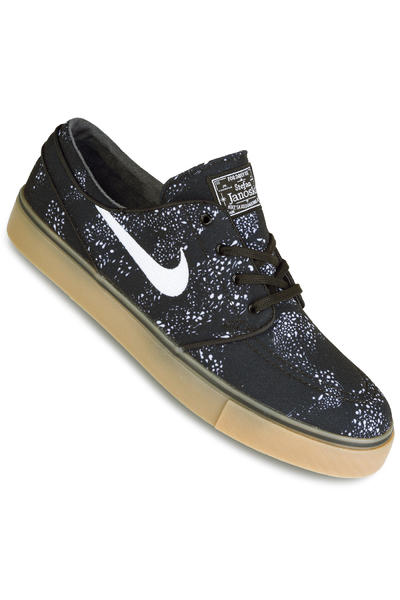 Nike SB Zoom Stefan Janoski Canvas Premium Schuh (black white gum light)