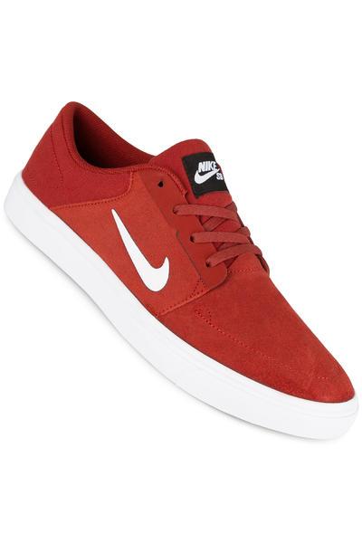 Nike SB Portmore Schuh (dark cayenne white)