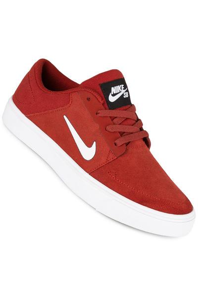 Nike SB Portmore Schuh kids (dark cayenne white)