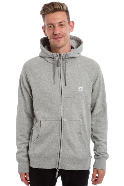 Nike SB Everett Graphic Full Zip-Hoodie (dark grey heather white)
