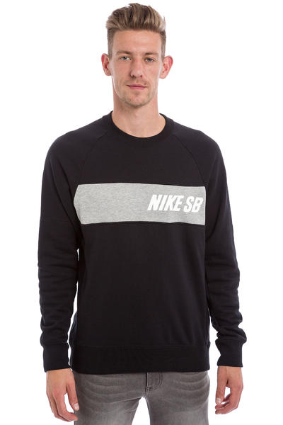 Nike SB Everett Graphic Sweatshirt (black dark grey heather white)