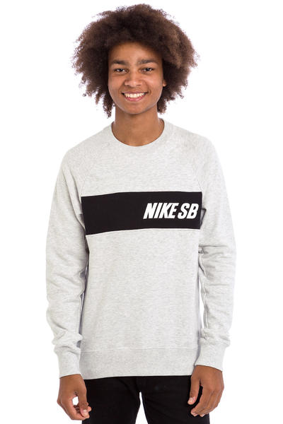 Nike SB Everett Graphic Sweatshirt (birch heather black white)