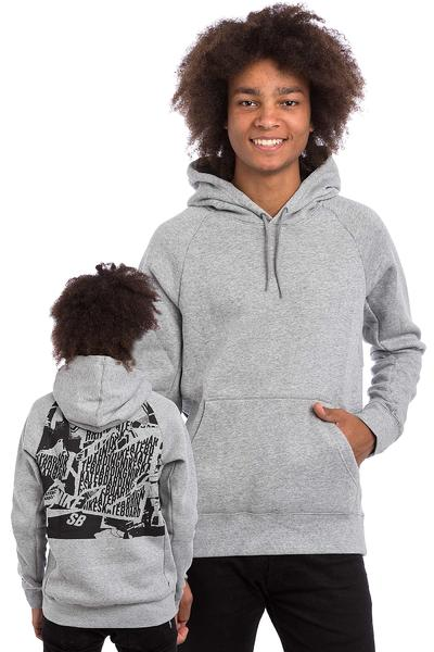 Nike SB Icon Ripped Hoodie (dark grey heather)