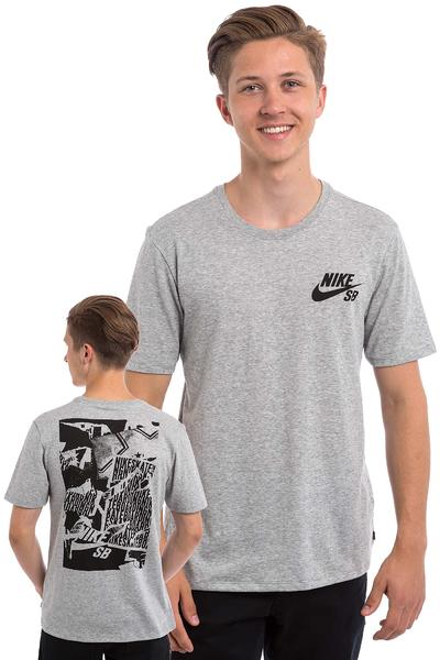 Nike SB Ripped T-Shirt (dark grey heather)