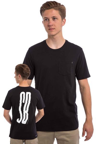 Nike SB Wave T-Shirt (black black white)