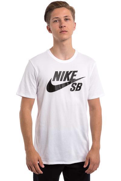 Nike SB Logo Camiseta (white white black)