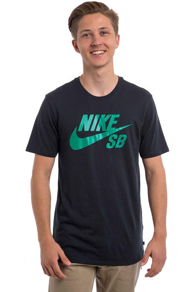 Nike SB Logo T-Shirt (obsidian rio teal)