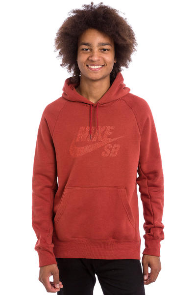 Nike SB Icon Dots Hoodie (dark cayenne light crimson)