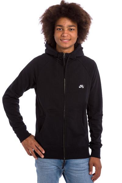 Nike SB Everett Zip-Hoodie (black white)