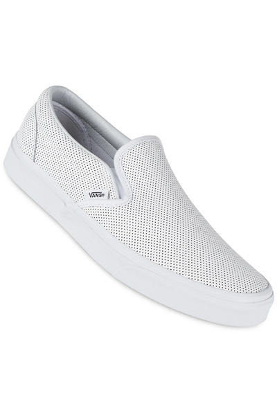 Vans Classic Slip-On Leather Shoe (perf white)