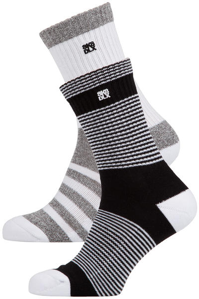 SK8DLX Crosswalk Socken US 6-13 (white stripes) 2er Pack