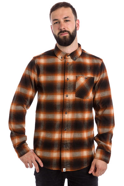 Altamont Reynolds Flanellhemd (black orange)