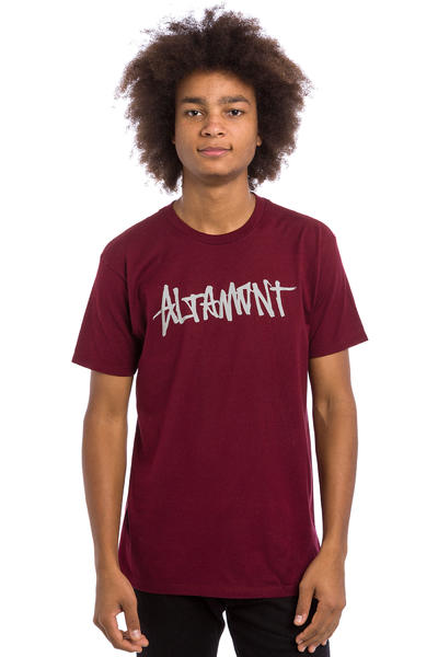 Altamont One Liner T-Shirt (burgundy)