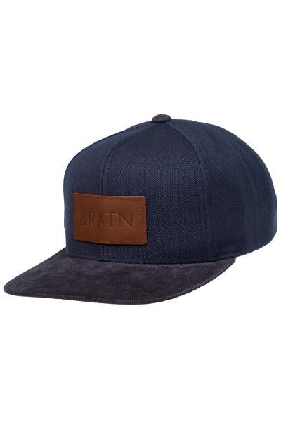 Brixton Rift Snapback Cap (navy brown)