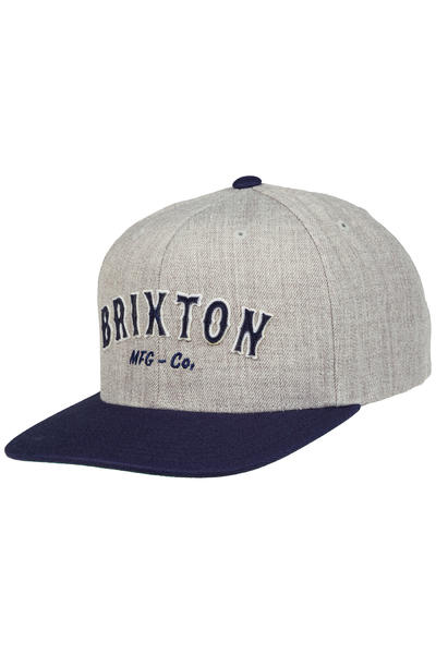 Brixton Harold Snapback Gorra (light heather grey navy)