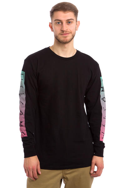 Welcome Scrawl Bar Longsleeve (black pink teal)
