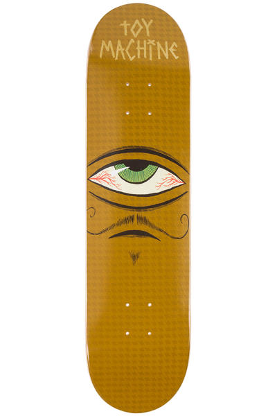 "Toy Machine Sect Eye Mustachio 7.75"" Deck (brown)"