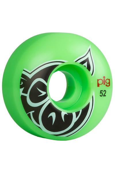 Pig Head 52mm Rueda (green) Pack de 4