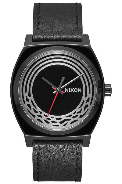 Nixon x Star Wars Kylo Ren The Time Teller Leather Watch (black)
