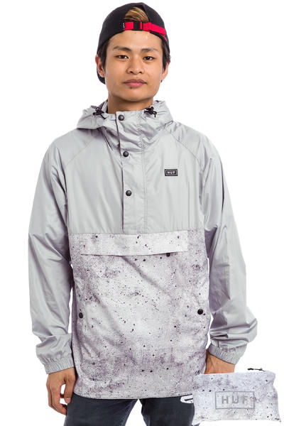HUF Adapt Packable Jacket (concrete print grey)