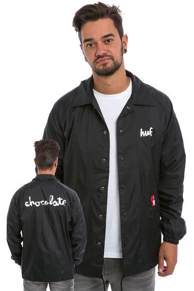 HUF x Chocolate Chunk Coaches Jacket (black)