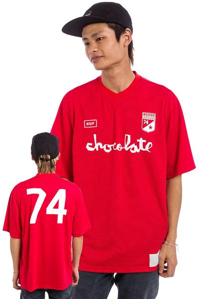 HUF x Chocolate Torrance FC Soccer T-Shirt (red)