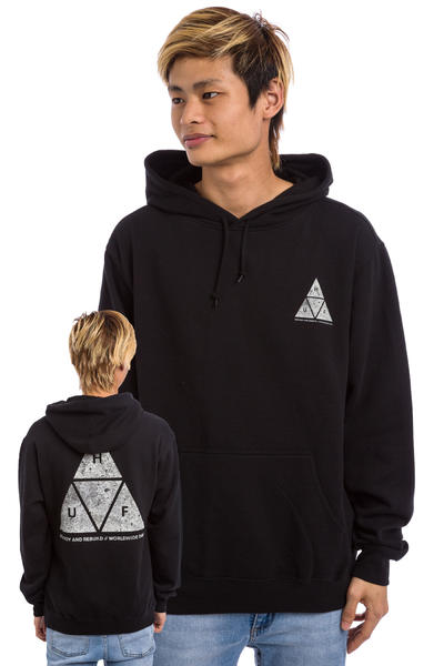 HUF Concrete Triple Triangle Hoodie (black)