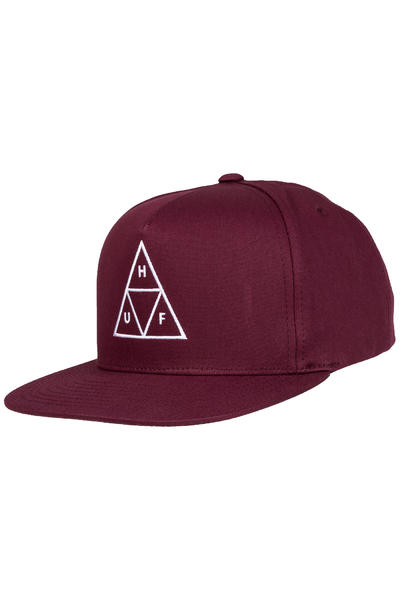 HUF Triple Triangle Snapback Cap (wine)