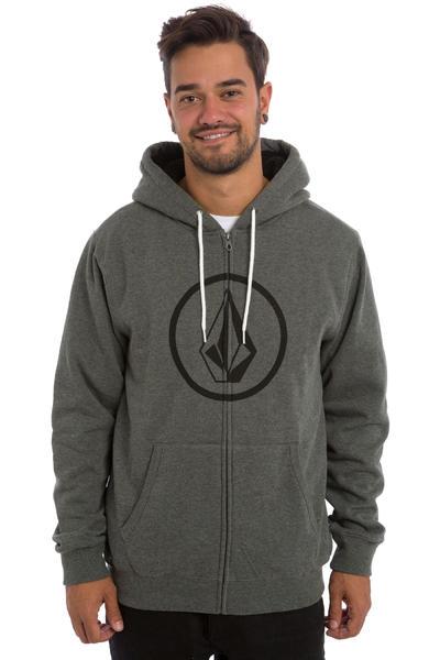 Volcom Stoned Lined Zip-Hoodie (dark grey)