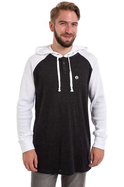 Volcom 3 Button Neige Chandail à Capuchon (black white)