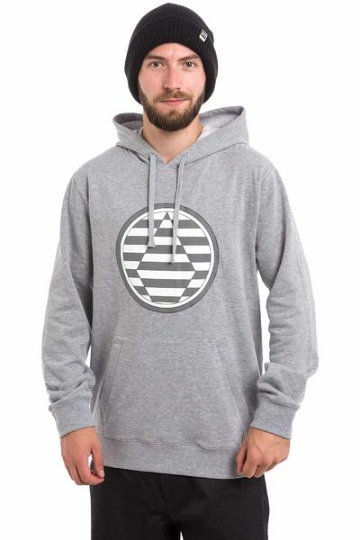 Volcom Striped Stone Neige Chandail à Capuchon (heather grey)