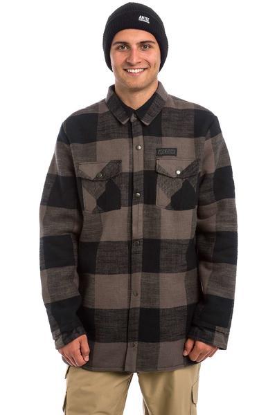 Volcom Pat Moore Sherpa Flannel Snowboard Jacke (black grey)