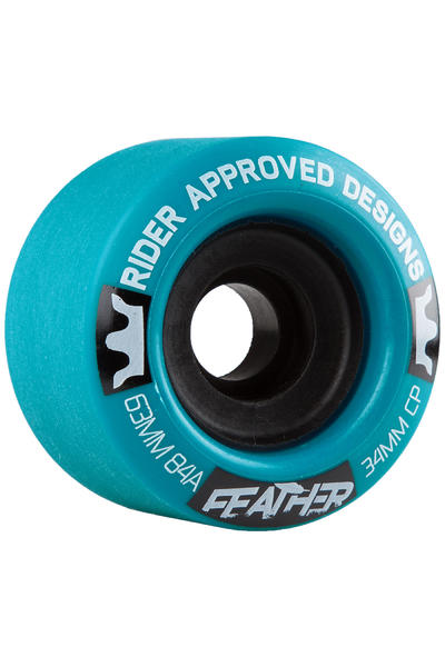 R.A.D. Feather 63mm 84A Rollen (blue) 4er Pack