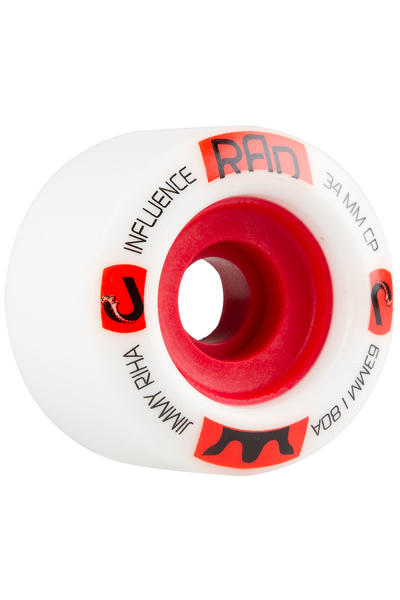 R.A.D. Influence 63mm 80A Wheel (white) 4 Pack