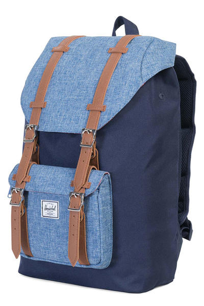 Herschel Little America Mid Backpack 17L (peacoat limoges crosshatch tan)