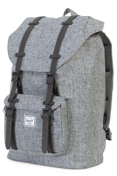 Herschel Little America Mid Backpack 17L (scattered raven crosshatch black)