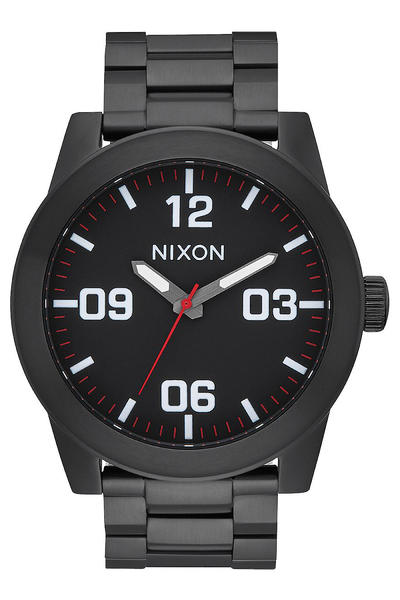 Nixon The Corporal SS Uhr (all black white)