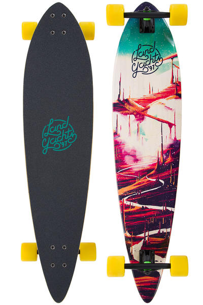 "Landyachtz Bamboo Pinner Red Road 44"" (111,75cm) Complete-Longboard"