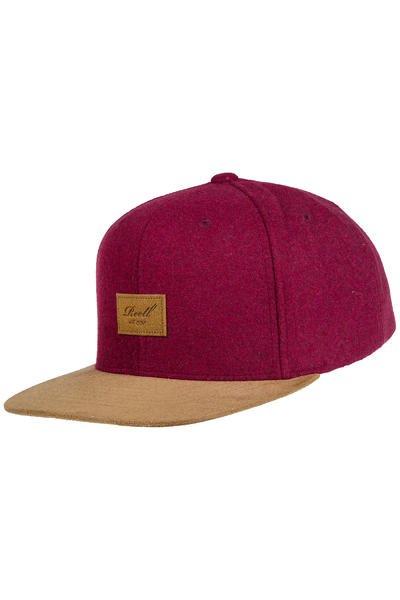 REELL Suede 6 Panel Cap (burgundy wool)