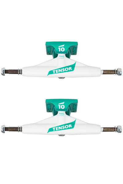 "Tensor Flick Magnesium Light TENs 5.25"" Low Truck (white teal) 2 Pack"